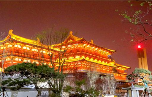 8月1日起,洛阳九洲池景区开启夜游活动